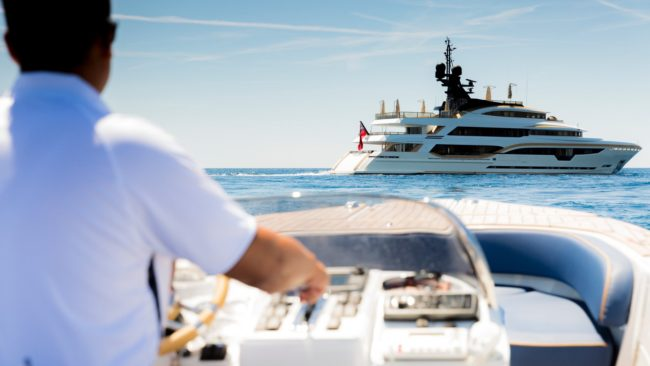 The superyacht TAIBA is available for charter through the CRG Yacht Collection